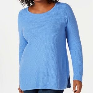 Charter Club Textured Pullover with Side Slits 3X